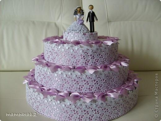 """Жених и невеста (верхний ярус торта из бонбоньерок). Невесту делала под впечатлением работы """"бакиры"""". Спасибо ей огромное, она мне очень помогла советами. фото 3"""