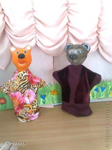 Вот таких Михаила Потаповича и Лису Патрикеевну - кукол на руку -  сделала в театральный уголок в детский сад. фото 1