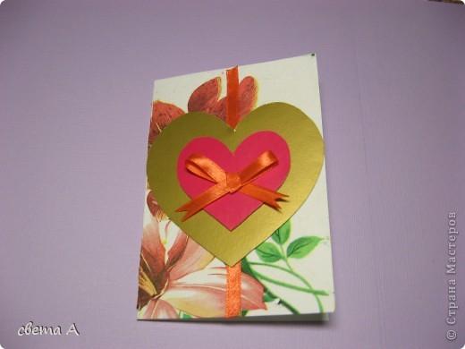 Сегодня  я расскажу как сделать вот такую открытку. фото 7