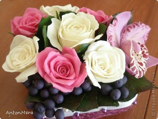 розы и орхидея  фото 3