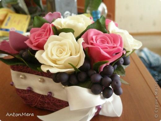 розы и орхидея  фото 4
