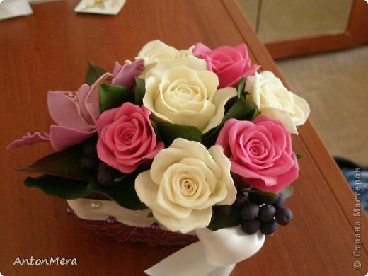розы и орхидея  фото 5