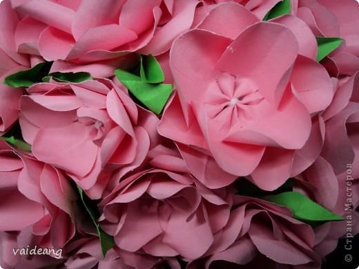 Увидела много яблонь в цвету в интернете и захотелось тоже,только белую не интересно делать,сделала  розовой .Для сохранения  весеннего   настроения. фото 2