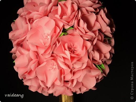 Увидела много яблонь в цвету в интернете и захотелось тоже,только белую не интересно делать,сделала  розовой .Для сохранения  весеннего   настроения. фото 3
