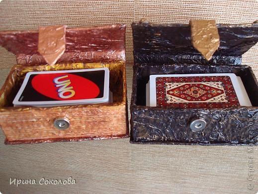 Сундучок и книжка для хранения карточных игр фото 2