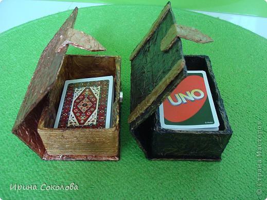 Сундучок и книжка для хранения карточных игр фото 24