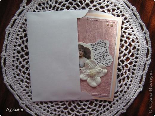 Сделала на днях две открытки на день рождения. Эта открытка коллеге по работе. фото 3