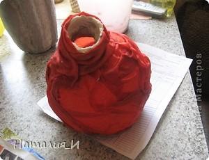 Как сделать вазочку из ткани МК фото 3