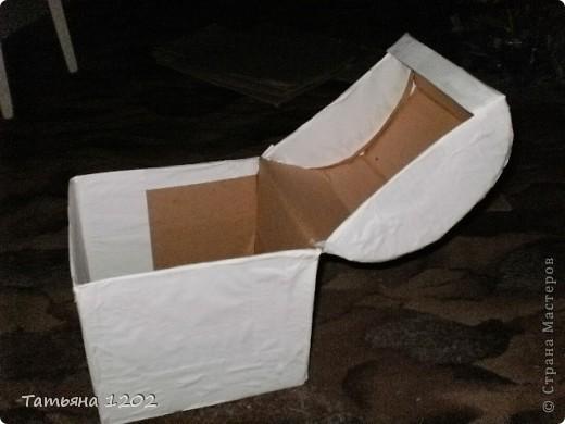 Коробку для сундучка склеивала сама. фото 2