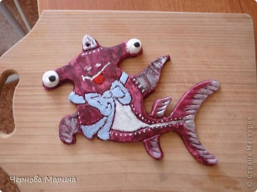 Моя морская коняжечка))))))) делала для сынульки, теперь висит у него над кроватью))) фото 7