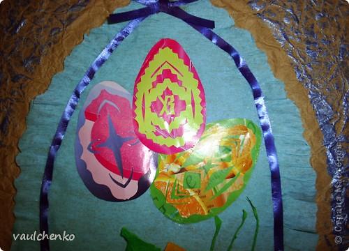 Давно готовилась для Праздника Пасхи  сделать панно,   На одном дыхании создавалась эта работа! Идея Люды ( Likmiass ) с цветочком-оригами  - просто чудо!  фото 4