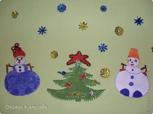 вот такие красивые снеговики получились из потолочной плитки! фото 4