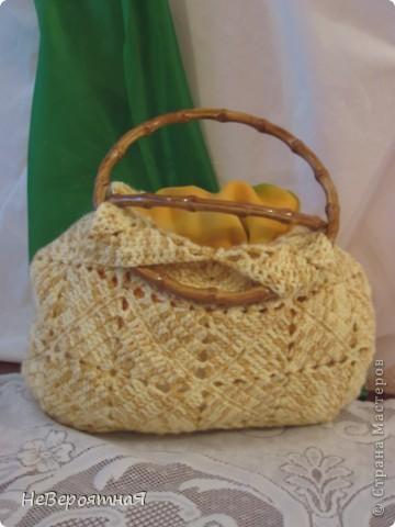Благодаря Ирине Голубке и её инициативе: http://stranamasterov.ru/node/156384 я связала себе такую сумочку фото 3