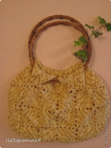 Благодаря Ирине Голубке и её инициативе: http://stranamasterov.ru/node/156384 я связала себе такую сумочку фото 2