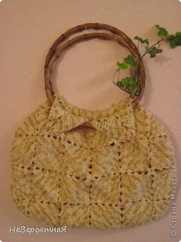 Благодаря Ирине Голубке и её инициативе: http://stranamasterov.ru/node/156384 я связала себе такую сумочку фото 1