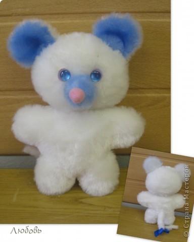 """Одна из тем моих занятий """"Топтыжки"""" - плоские игрушки из меха. Здесь используется одна основа - туловище и голова, а все остальное - разные детальки (уши, хвосты, мордочки) Это мой вариант мишки. А девочки определились со своими зверюшками и начали творить... фото 4"""