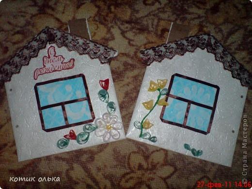 Вот такой подарок я решила сделать для сестры на день рождения. Альбом в виде домика, каждая страничка украшена по своему. Спасибо всем рукодельницам! Идеи черпала с нашего любимиго сайта. фото 10