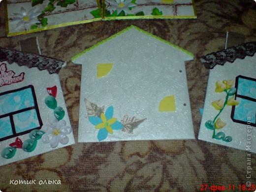 Вот такой подарок я решила сделать для сестры на день рождения. Альбом в виде домика, каждая страничка украшена по своему. Спасибо всем рукодельницам! Идеи черпала с нашего любимиго сайта. фото 14