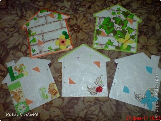 Вот такой подарок я решила сделать для сестры на день рождения. Альбом в виде домика, каждая страничка украшена по своему. Спасибо всем рукодельницам! Идеи черпала с нашего любимиго сайта. фото 15
