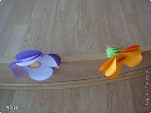 Такие цветочки делала для летнего лагеря. фото 4