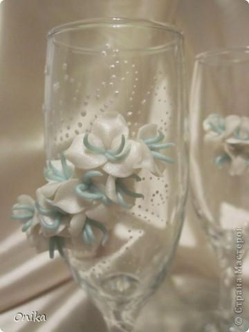 """Свадебные бокалы """"Небесные цветы"""" фото 3"""