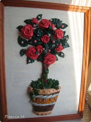 Розовое дерево по МК Тани Вешенки. Моя первая работа.  фото 2
