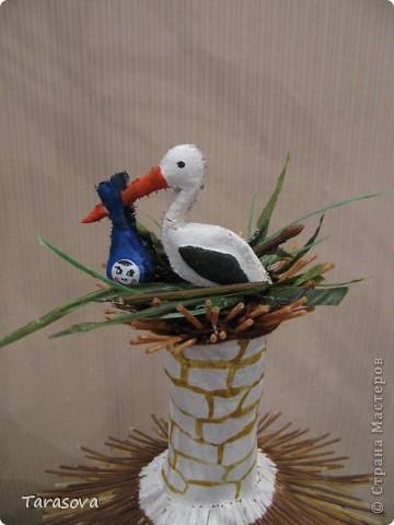 Украинская хата (на дымаре гнездо для аистов) фото 6