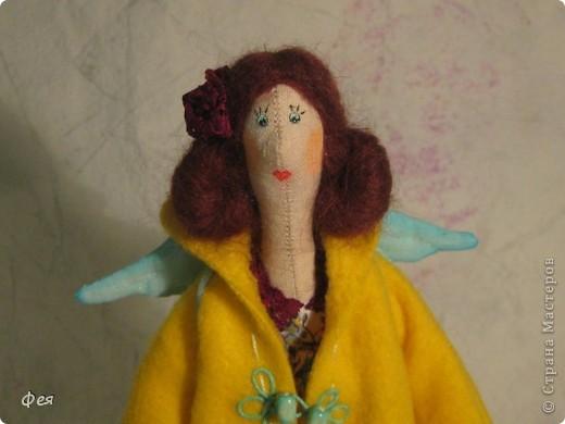 Лилечка сшита по выкройке осеннего ангела. Причёску попросила пышную, потому вместо беретки у Лилечки розочка в волосах:) фото 1