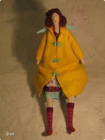 Лилечка сшита по выкройке осеннего ангела. Причёску попросила пышную, потому вместо беретки у Лилечки розочка в волосах:) фото 2