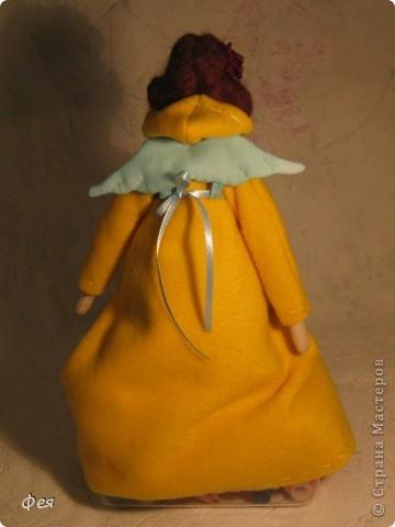 Лилечка сшита по выкройке осеннего ангела. Причёску попросила пышную, потому вместо беретки у Лилечки розочка в волосах:) фото 3