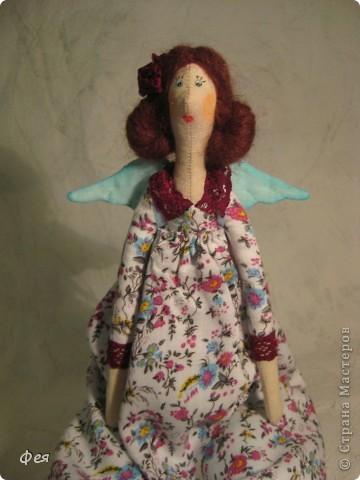 Лилечка сшита по выкройке осеннего ангела. Причёску попросила пышную, потому вместо беретки у Лилечки розочка в волосах:) фото 5
