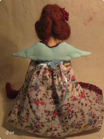 Лилечка сшита по выкройке осеннего ангела. Причёску попросила пышную, потому вместо беретки у Лилечки розочка в волосах:) фото 9