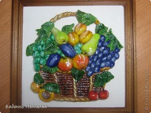 Моя корзиночка с фруктиками.Спасибо Ларисе Ивановой за ее идеи и талант! фото 1