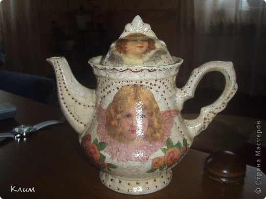 "Завароочный чайник ""Ангелочки"" фото 1"