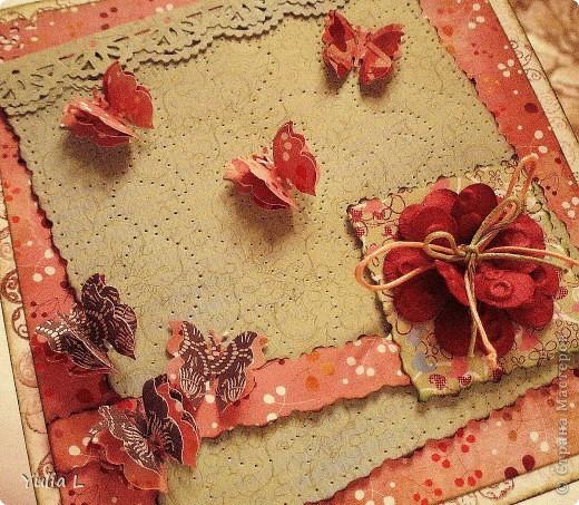 Новая открытка по скетчу Лены http://stranamasterov.ru/node/159827.  Завтра профессиональный праздник у близкого мне человека, вот и родилась такая весенняя открытка с порхающими по зеленому полю бабочками. фото 2