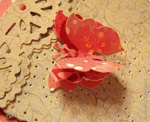 Новая открытка по скетчу Лены http://stranamasterov.ru/node/159827.  Завтра профессиональный праздник у близкого мне человека, вот и родилась такая весенняя открытка с порхающими по зеленому полю бабочками. фото 4