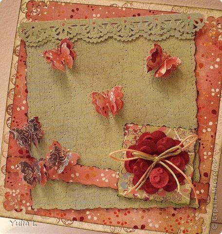 Новая открытка по скетчу Лены http://stranamasterov.ru/node/159827.  Завтра профессиональный праздник у близкого мне человека, вот и родилась такая весенняя открытка с порхающими по зеленому полю бабочками. фото 1