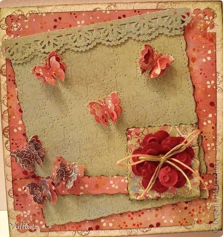 Новая открытка по скетчу Лены http://stranamasterov.ru/node/159827.  Завтра профессиональный праздник у близкого мне человека, вот и родилась такая весенняя открытка с порхающими по зеленому полю бабочками. фото 6