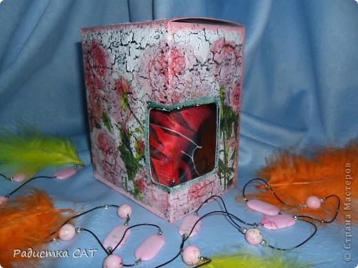 Декорировала бутылку и подарочную коробочку фото 4