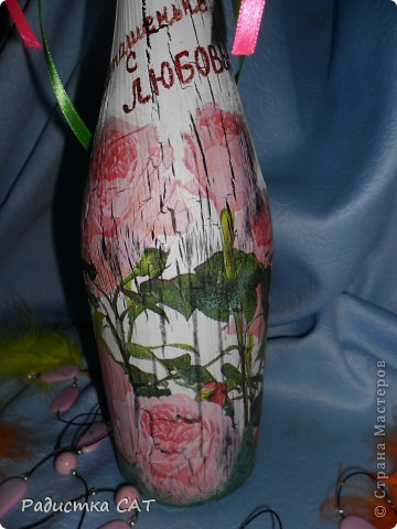 Декорировала бутылку и подарочную коробочку фото 9