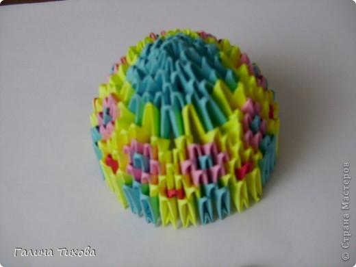 Мастер-класс Поделка изделие Оригами китайское модульное Пасхальное яйцо Мастер-класс Бумага фото 16