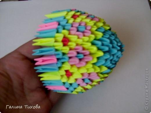 Мастер-класс Поделка изделие Оригами китайское модульное Пасхальное яйцо Мастер-класс Бумага фото 17