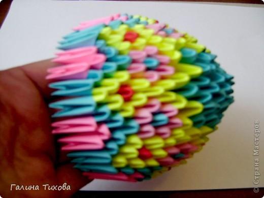 Мастер-класс Поделка изделие Оригами китайское модульное Пасхальное яйцо Мастер-класс Бумага фото 18