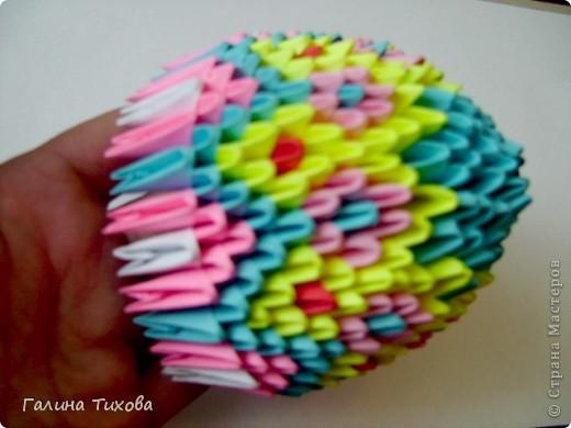 Мастер-класс Поделка изделие Оригами китайское модульное Пасхальное яйцо Мастер-класс Бумага фото 19