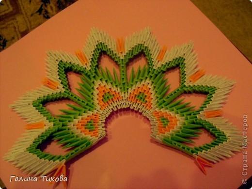 Модульное оригами - Павлин Мастер-класс.