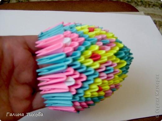 Мастер-класс Поделка изделие Оригами китайское модульное Пасхальное яйцо Мастер-класс Бумага фото 20
