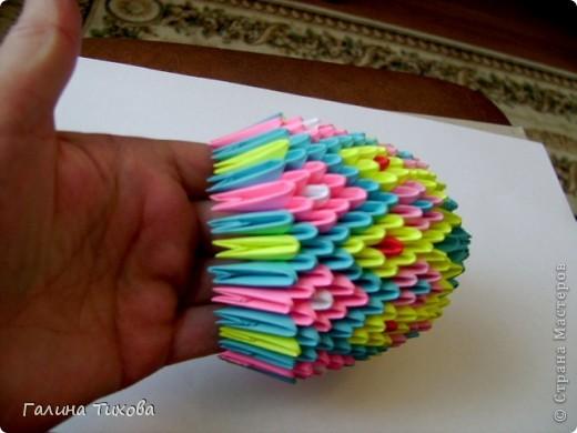 Мастер-класс Поделка изделие Оригами китайское модульное Пасхальное яйцо Мастер-класс Бумага фото 21