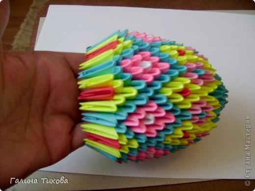 Мастер-класс Поделка изделие Оригами китайское модульное Пасхальное яйцо Мастер-класс Бумага фото 23