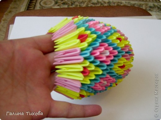 Мастер-класс Поделка изделие Оригами китайское модульное Пасхальное яйцо Мастер-класс Бумага фото 24