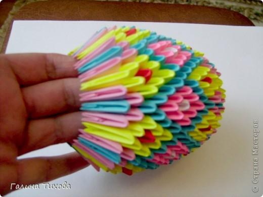 Мастер-класс Поделка изделие Оригами китайское модульное Пасхальное яйцо Мастер-класс Бумага фото 25